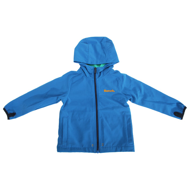 Blue - Front - Bench Childrens Boys Long Sleeve Waterproof Hooded Jacket
