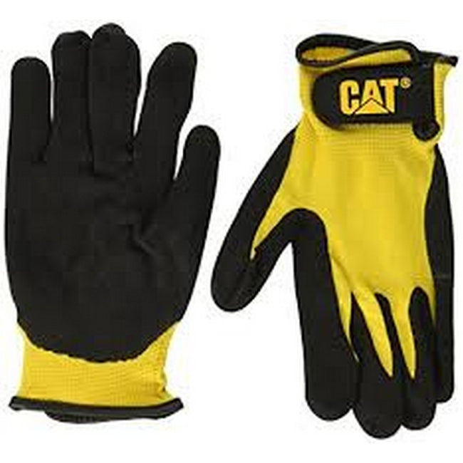 Black - Back - Caterpillar 17416 Nitrile Coated Nylon Shell Gloves - Mens Gloves - Gloves