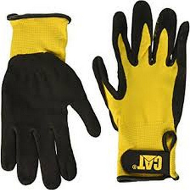 Black - Lifestyle - Caterpillar 17416 Nitrile Coated Nylon Shell Gloves - Mens Gloves - Gloves
