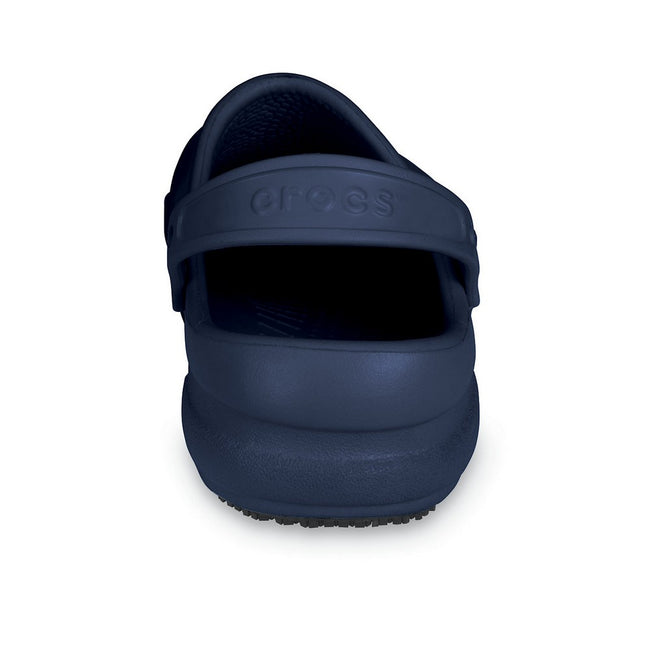Navy - Close up - Crocs Unisex Bistro 10075 Work Clogs