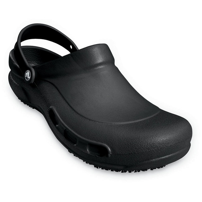 Black - Back - Crocs Unisex Bistro 10075 Work Clogs