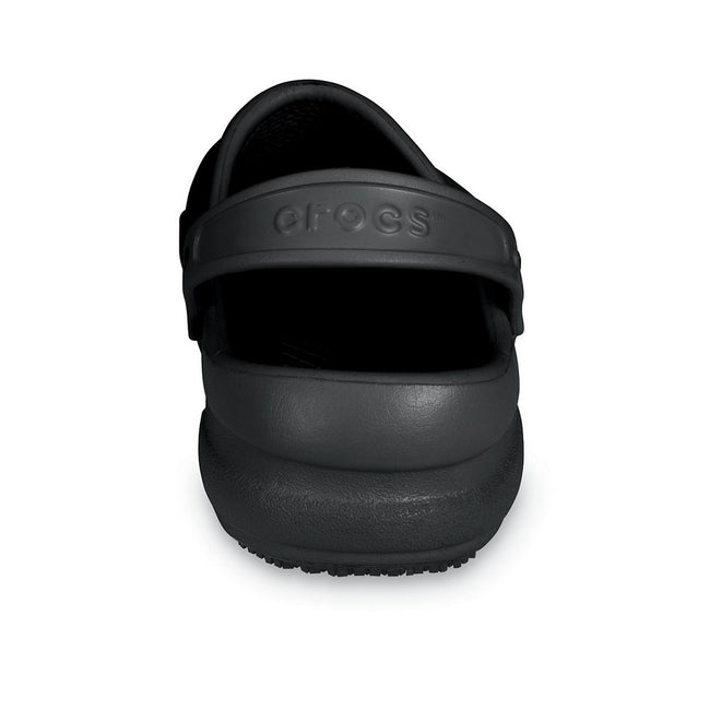 Black - Close up - Crocs Unisex Bistro 10075 Work Clogs