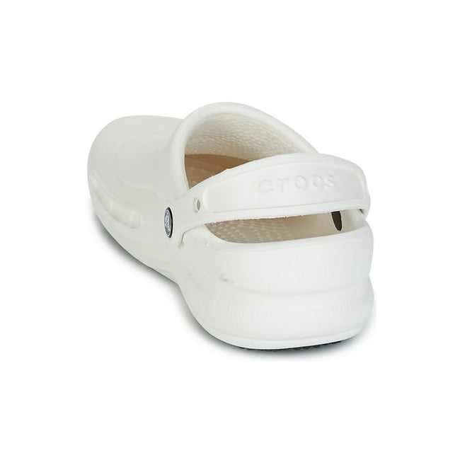 White - Side - Crocs Unisex Bistro 10075 Work Clogs