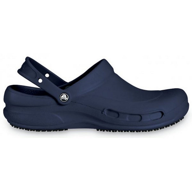 Navy - Front - Crocs Unisex Bistro 10075 Work Clogs
