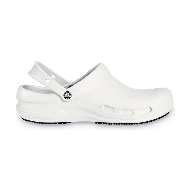 White - Front - Crocs Unisex Bistro 10075 Work Clogs
