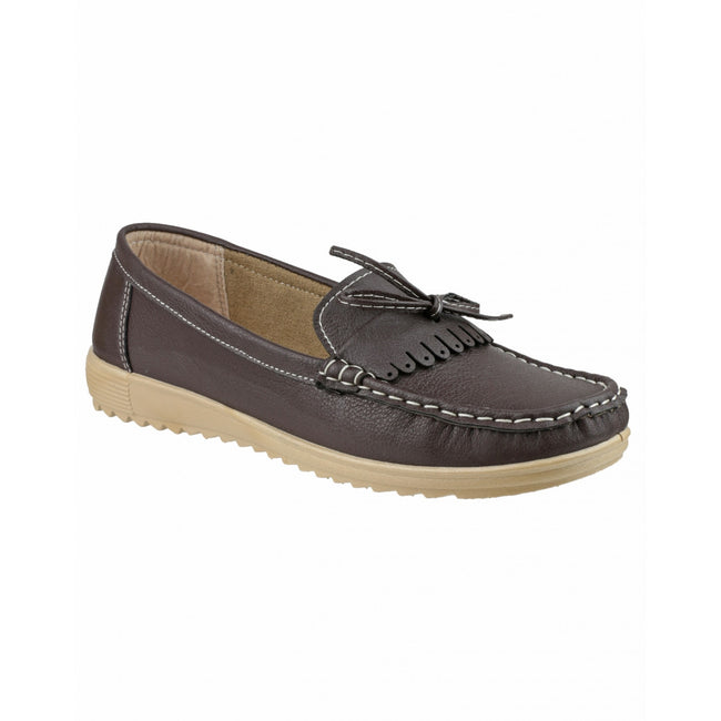 Brown - Front - Amblers Elba Ladies Summer Shoe - Womens Shoes
