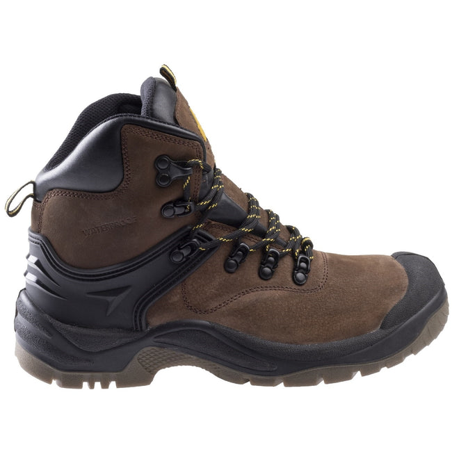 Brown - Side - Amblers FS197 Unisex Waterproof Safety Boots