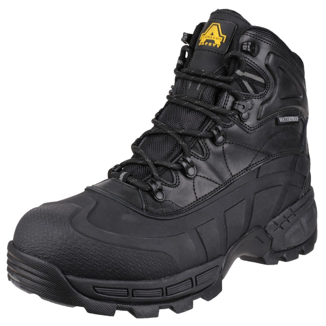 Black - Pack Shot - Amblers Mens FS430 Orca S3 Waterproof Leather Safety Boots