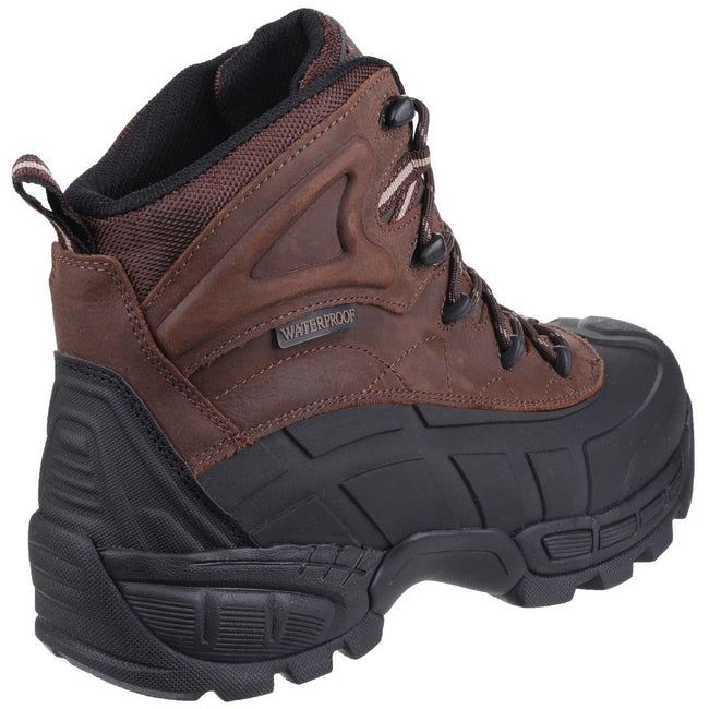 Brown - Back - Amblers Mens FS430 Orca S3 Waterproof Leather Safety Boots