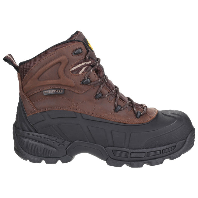 Brown - Side - Amblers Mens FS430 Orca S3 Waterproof Leather Safety Boots