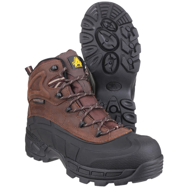 Brown - Lifestyle - Amblers Mens FS430 Orca S3 Waterproof Leather Safety Boots