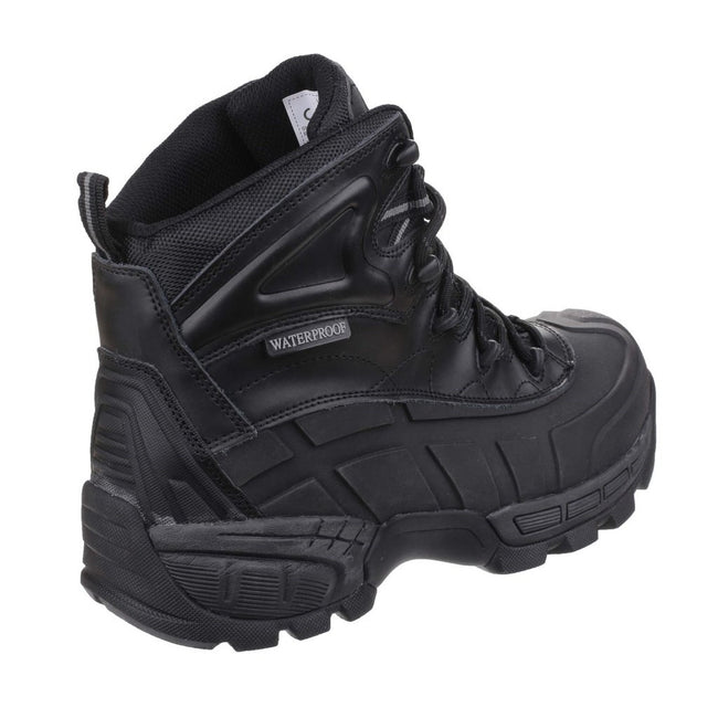 Black - Back - Amblers Mens FS430 Orca S3 Waterproof Leather Safety Boots