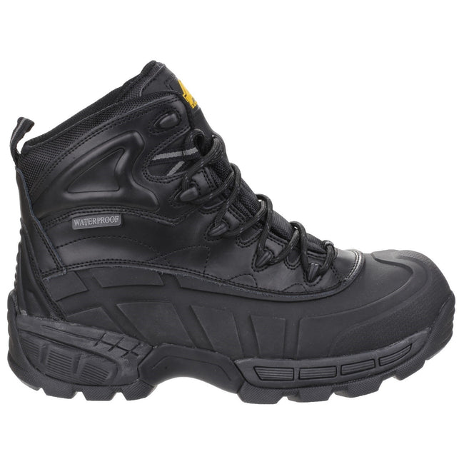 Black - Side - Amblers Mens FS430 Orca S3 Waterproof Leather Safety Boots