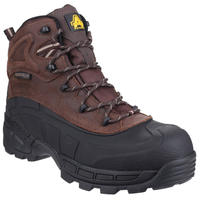 Brown - Front - Amblers Mens FS430 Orca S3 Waterproof Leather Safety Boots