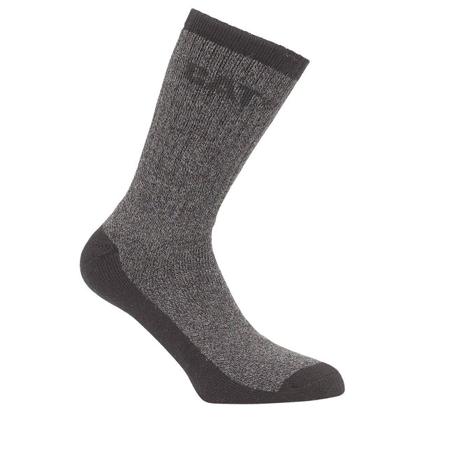 Black - Front - Caterpillar Thermal Mens Work Socks (Pack Of 2)