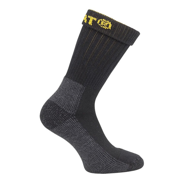 Black - Front - Caterpillar Industrial Work Sock 2 Pk - Mens Socks