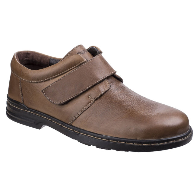 Brown - Front - Hush Puppies Mens Jeremy Hanston Formal Shoes
