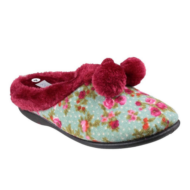 Floral - Front - Mirak Womens-Ladies Chabilis Mule Slippers