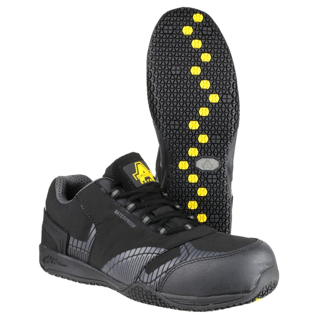 Black - Side - Amblers Safety FS29C Mens Safety Trainers