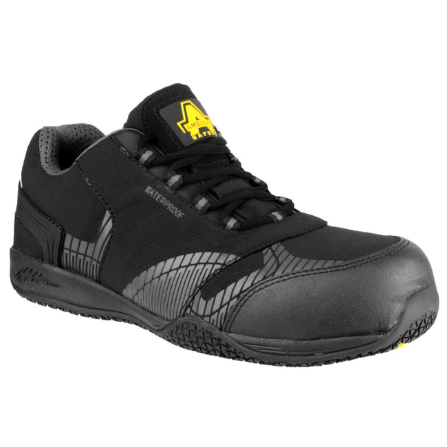 Black - Front - Amblers Safety FS29C Mens Safety Trainers
