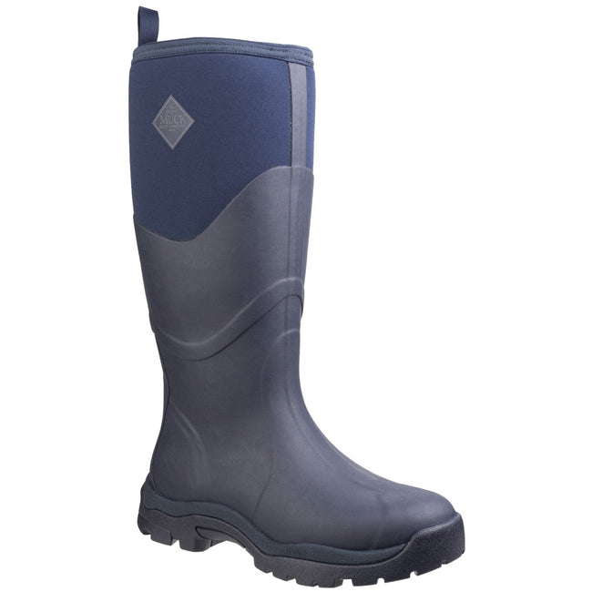 Navy - Front - Muck Boots Womens-Ladies Greta Max Safety Boots