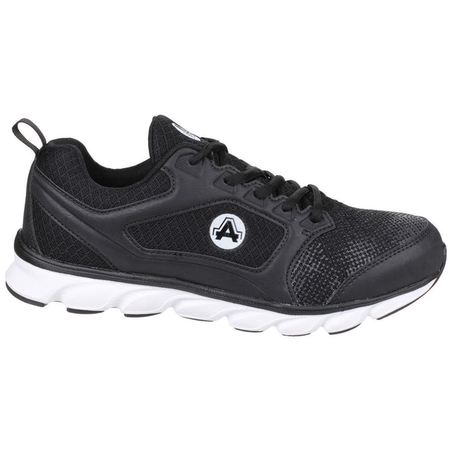 Black - Back - Amblers Safety Mens AS707 Lightweight Non-Leather Safety Trainer