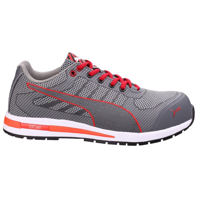 Grey - Back - Puma Mens Xelerate Knit Low Safety Trainers