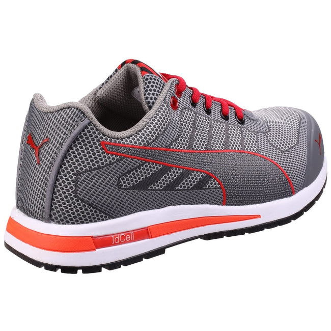 Grey - Side - Puma Mens Xelerate Knit Low Safety Trainers