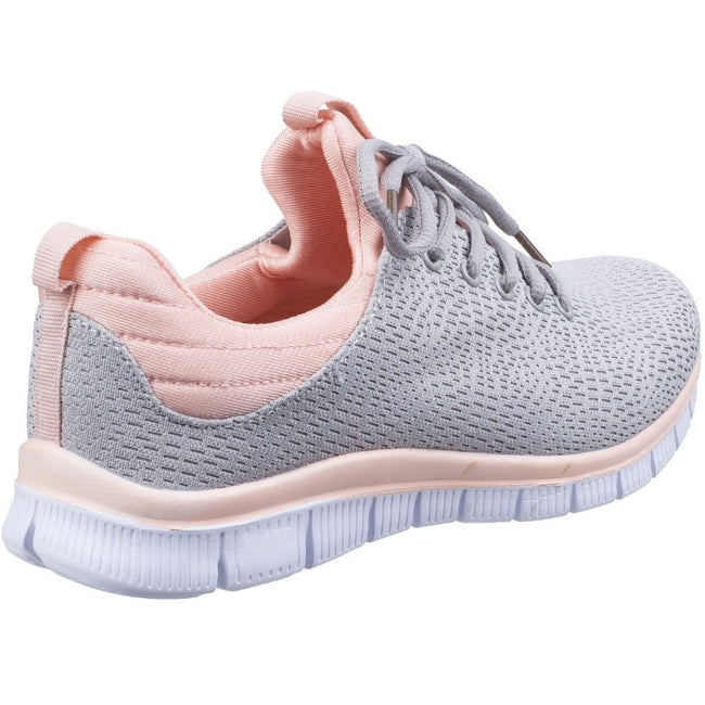 Grey - Side - Fleet & Foster Womens-Ladies Pompei Summer Shoes