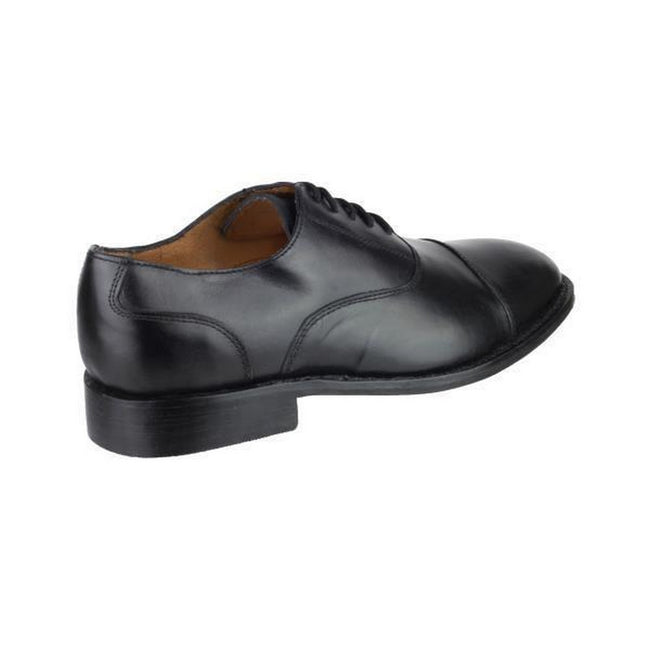 Black - Side - Amblers James Leather Soled Shoe - Mens Shoes
