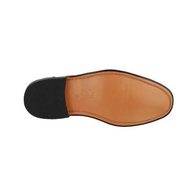 Black - Lifestyle - Amblers James Leather Soled Shoe - Mens Shoes