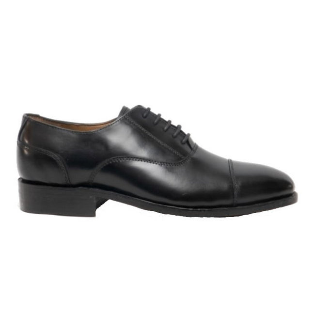 Black - Front - Amblers James Leather Soled Shoe - Mens Shoes
