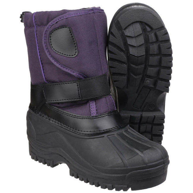 Purple - Close up - Cotswold Childrens-Kids Avalanche Snow Boots