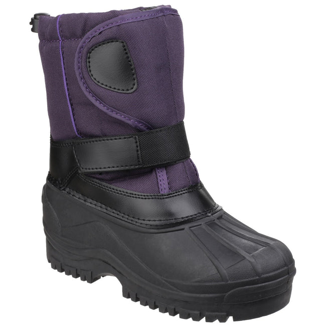 Purple - Front - Cotswold Childrens-Kids Avalanche Snow Boots