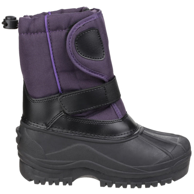 Purple - Back - Cotswold Childrens-Kids Avalanche Snow Boots