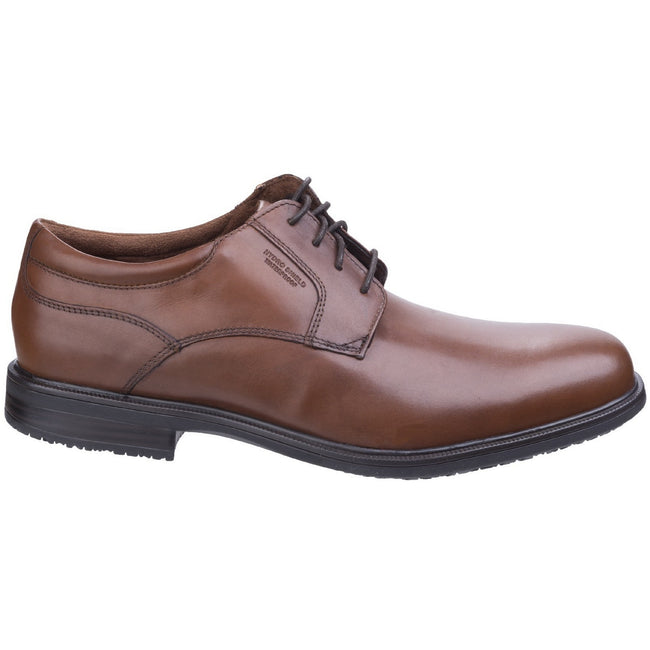 Antique Tan - Front - Rockport Mens Essential II Plain Classic Leather Lace Up Shoe