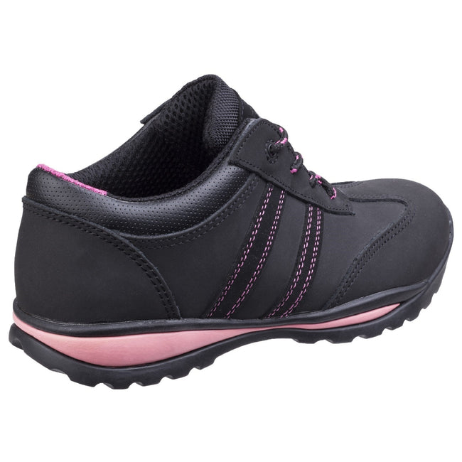 Black - Lifestyle - Amblers Steel FS47 S1-P Trainer - Womens Shoes - Safety Shoes