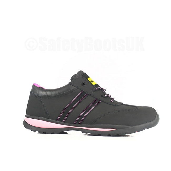 Black - Front - Amblers Steel FS47 S1-P Trainer - Womens Shoes - Safety Shoes