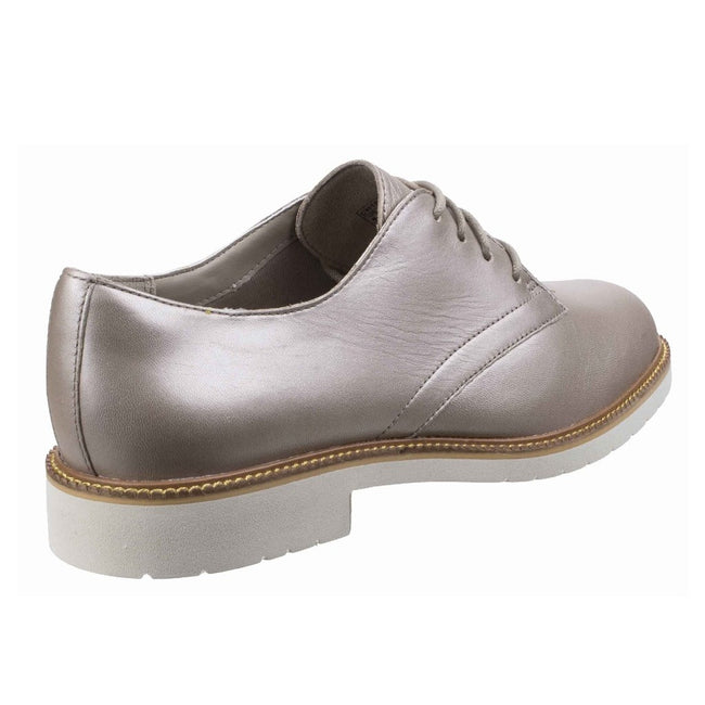 Dove - Back - Rockport Womens-Ladies Abelle Lace Up Leather Shoes