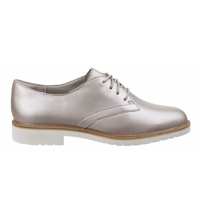 Dove - Side - Rockport Womens-Ladies Abelle Lace Up Leather Shoes
