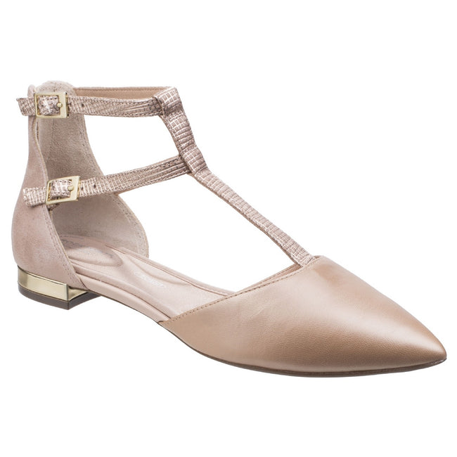 Blush - Front - Rockport Womens-Ladies Adelyn Leather T Strap Shoes