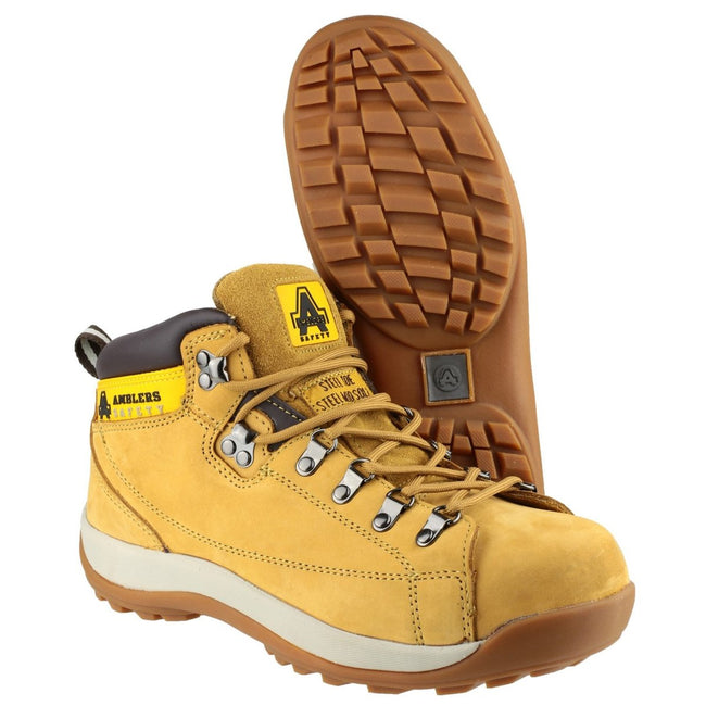 Honey - Close up - Amblers Steel FS122 Safety Boot - Mens Boots