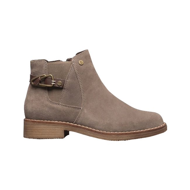 Dark Grey - Back - Hush Puppies Womens-Ladies Alaska Ankle Boots