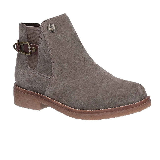 Dark Grey - Front - Hush Puppies Womens-Ladies Alaska Ankle Boots