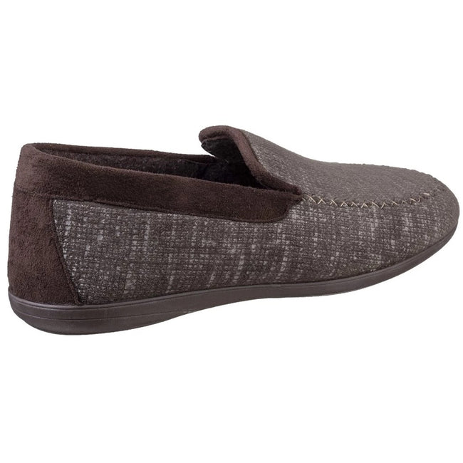 Brown - Lifestyle - Cotswold Mens Stanley Moc Toe Full Slipper