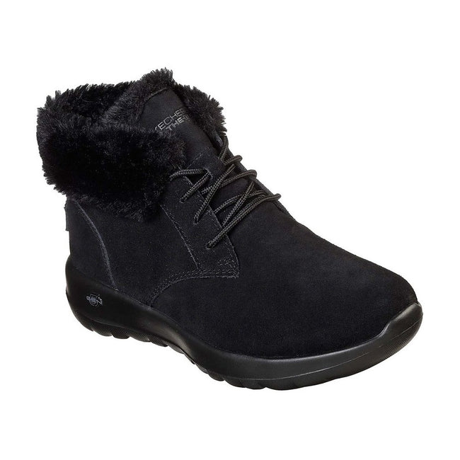 Black - Front - Skechers Womens-Ladies On The Go Joy Lush Suede Boot