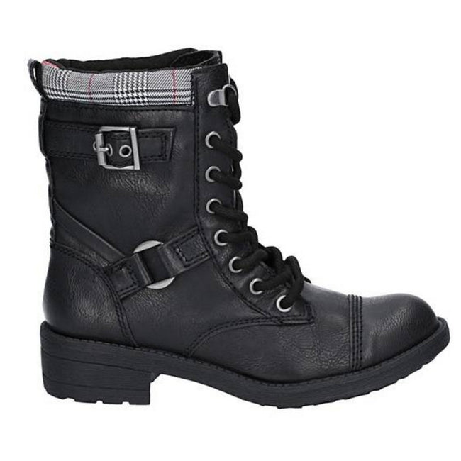 Black - Side - Rocket Dog Womens-Ladies Thunder Ankle Boot