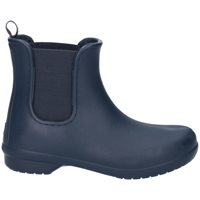 Navy-Navy - Front - Crocs Womens-Ladies Freesail Chelsea Boot