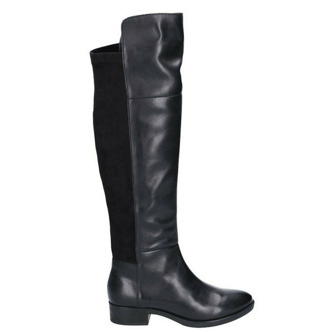 Black Leather - Back - Geox Womens-Ladies Felicity Boot