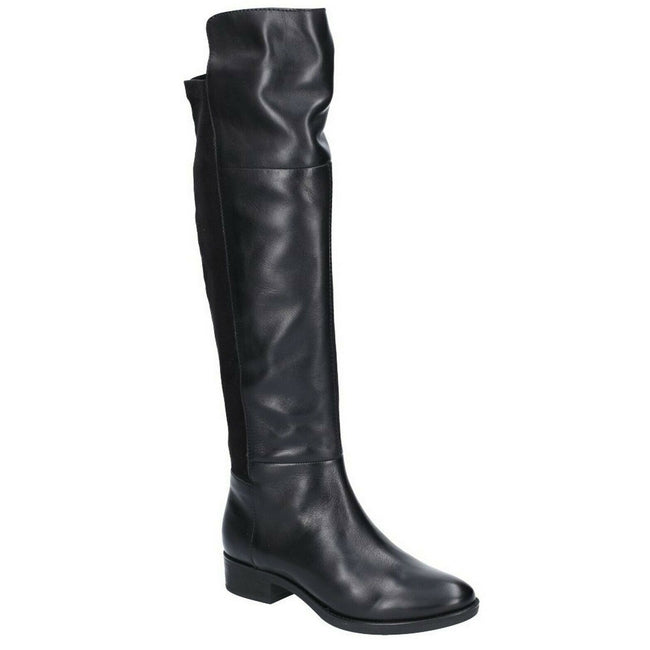 Black Leather - Front - Geox Womens-Ladies Felicity Boot